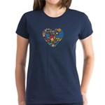 Uruguay World Cup 2014 Heart Women's Dark T-Shirt