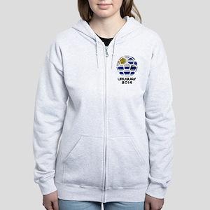 Uruguay World Cup 2014 Women's Zip Hoodie