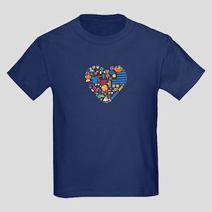 Uruguay World Cup 2014 Heart Kids Dark T-Shirt