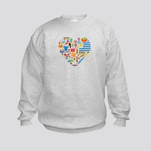 Uruguay World Cup 2014 Heart Kids Sweatshirt