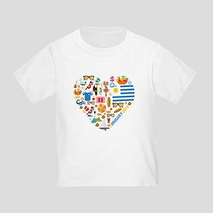 Uruguay World Cup 2014 Heart Toddler T-Shirt