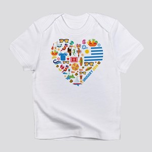 Uruguay World Cup 2014 Heart Infant T-Shirt