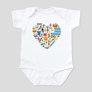 Uruguay World Cup 2014 Heart Infant Bodysuit