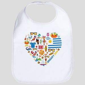 Uruguay World Cup 2014 Heart Bib