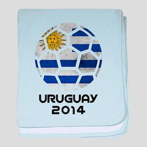 Uruguay World Cup 2014 baby blanket