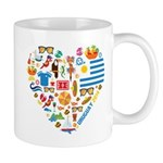 Uruguay World Cup 2014 Heart Mug