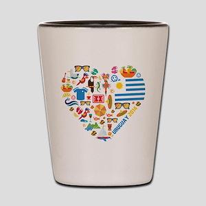 Uruguay World Cup 2014 Heart Shot Glass