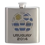 Uruguay World Cup 2014 Flask