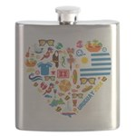Uruguay World Cup 2014 Heart Flask