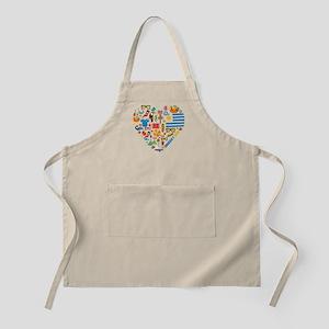Uruguay World Cup 2014 Heart Apron