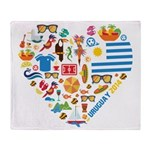 Uruguay World Cup 2014 Heart Throw Blanket