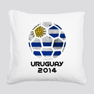 Uruguay World Cup 2014 Square Canvas Pillow
