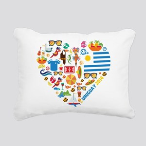 Uruguay World Cup 2014 H Rectangular Canvas Pillow