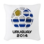 Uruguay World Cup 2014 Woven Throw Pillow