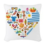 Uruguay World Cup 2014 Heart Woven Throw Pillow