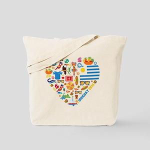 Uruguay World Cup 2014 Heart Tote Bag