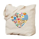 Uruguay World Cup 2014 Heart Tote Bag