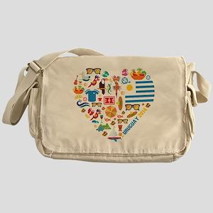 Uruguay World Cup 2014 Heart Messenger Bag