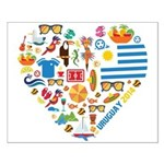 Uruguay World Cup 2014 Heart Small Poster