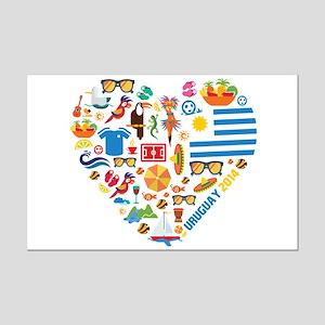 Uruguay World Cup 2014 Heart Mini Poster Print