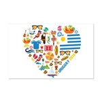 Uruguay World Cup 2014 Heart Mini Poster Print