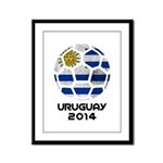Uruguay World Cup 2014 Framed Panel Print
