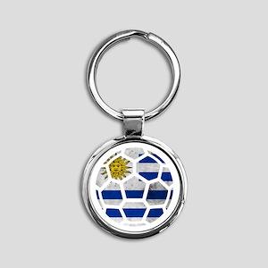 Uruguay World Cup 2014 Round Keychain