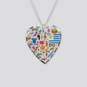 Uruguay World Cup 2014 Heart Necklace Heart Charm