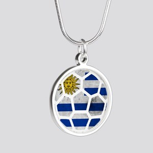 Uruguay World Cup 2014 Silver Round Necklace