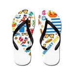 Uruguay World Cup 2014 Heart Flip Flops