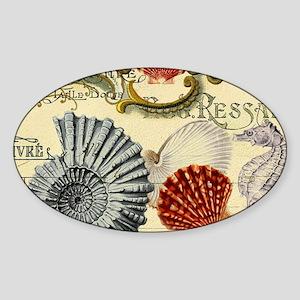 modern beach seashells seahorse Sticker