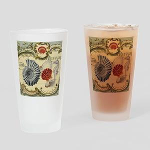 modern beach seashells seahorse Drinking Glass