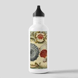 modern beach seashells seahorse Water Bottle