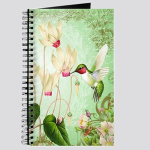 Modern Vintage French Hummingbirds Journal