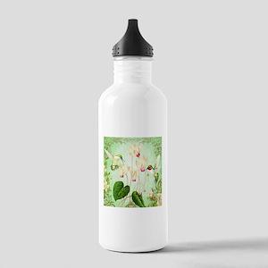 Modern Vintage French Hummingbirds Water Bottle