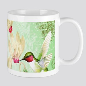 Modern Vintage French Hummingbirds Mugs