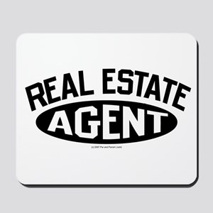REAL ESTATE AGENT (Black) Mousepad