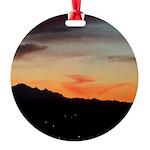 Night Mountain Round Ornament