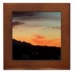 Night Mountain Framed Tile