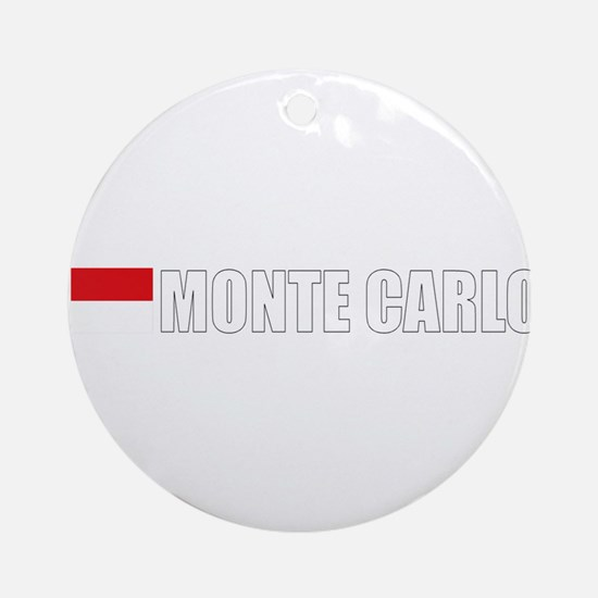 Monte Carlo Flag II (Dark) Ornament (Round)