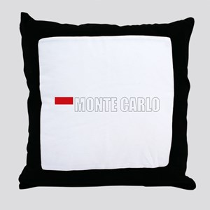 Monte Carlo Flag II (Dark) Throw Pillow