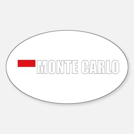 Monte Carlo Flag II (Dark) Oval Decal