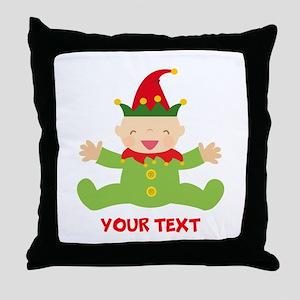 Elf Christmas Throw Pillow