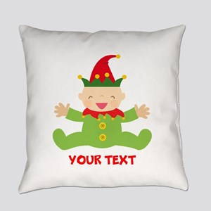 Elf Christmas Everyday Pillow
