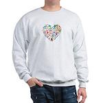 Costa Rica World Cup 2014 Heart Sweatshirt