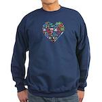 Costa Rica World Cup 2014 Heart Sweatshirt (dark)