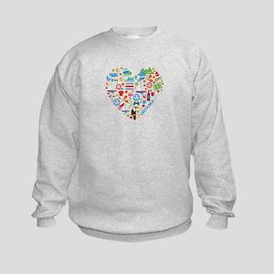 Costa Rica World Cup 2014 Heart Kids Sweatshirt