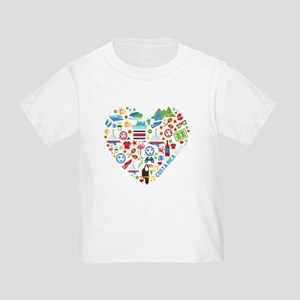 Costa Rica World Cup 2014 Heart Toddler T-Shirt