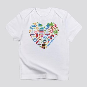 Costa Rica World Cup 2014 Heart Infant T-Shirt