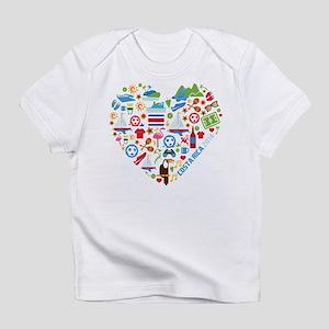 Costa Rica World Cup 2014 Heart Infant T-Shirt